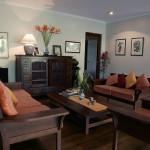 Open plan living room at The Botanical Ark Retreat