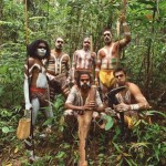 Aboriginal tour group in the Daintree, Tropical North Queensland, Australia