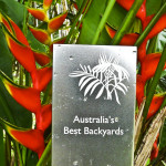 Australia's Best Backyards winning plaque at The Botanical Ark